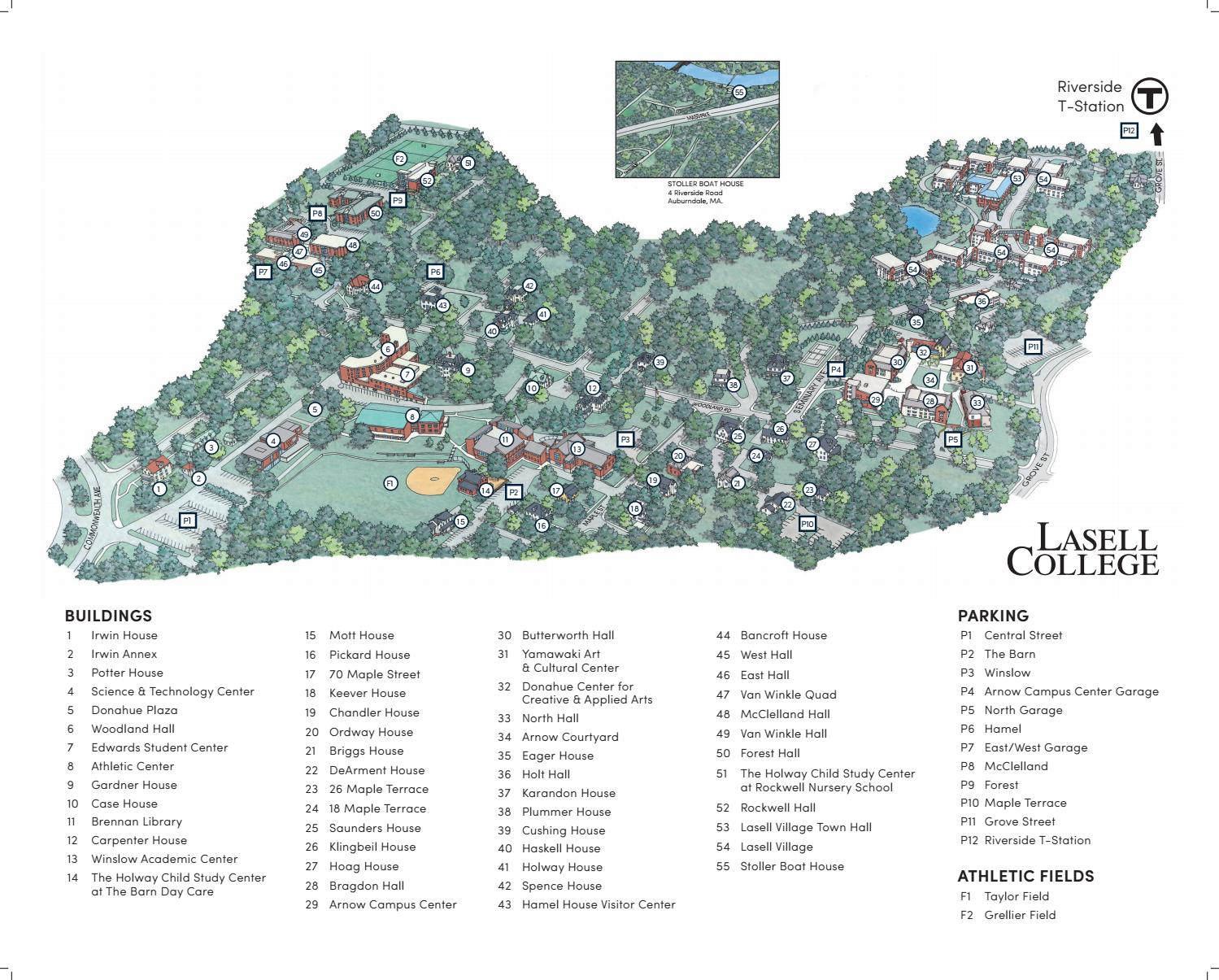 Lasell College Campus Map by Lasell University - issuu on sweet briar campus map, texas lutheran campus map, stanford campus map, delta state campus map, north lamar campus map, william carey campus map, george mason campus map, chico state campus map, cardinal newman campus map, trinity campus map, pittsburg state campus map, upper iowa campus map, university of texas campus map, baylor campus map,