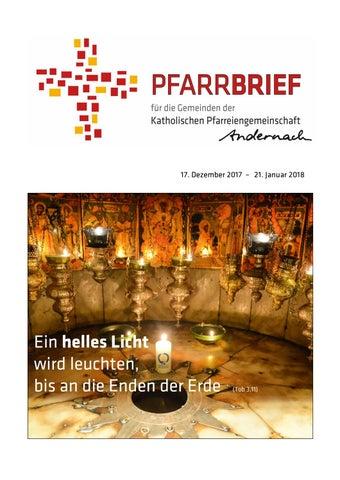 Pfarrbrief Weihnachten2017 By Kath Pfarreiengemeinschaft Andernach