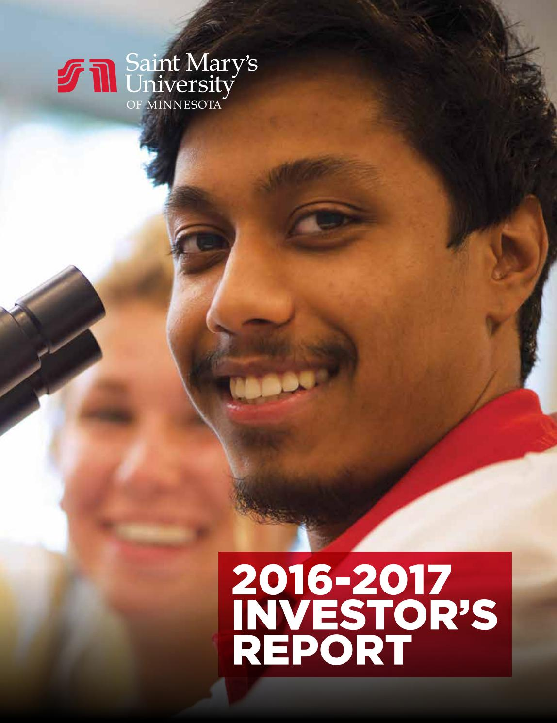 Saint Mary's University of Minnesota - Investor's Report 2016-2017 by Saint  Mary's University - issuu