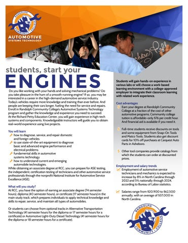 Randolph Community College Automotive Systems Technology