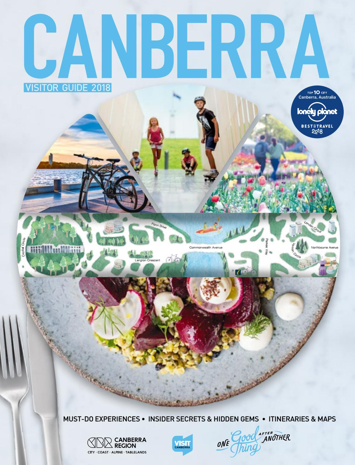 Canberra Visitor Guide 2018 by VisitCanberra - issuu