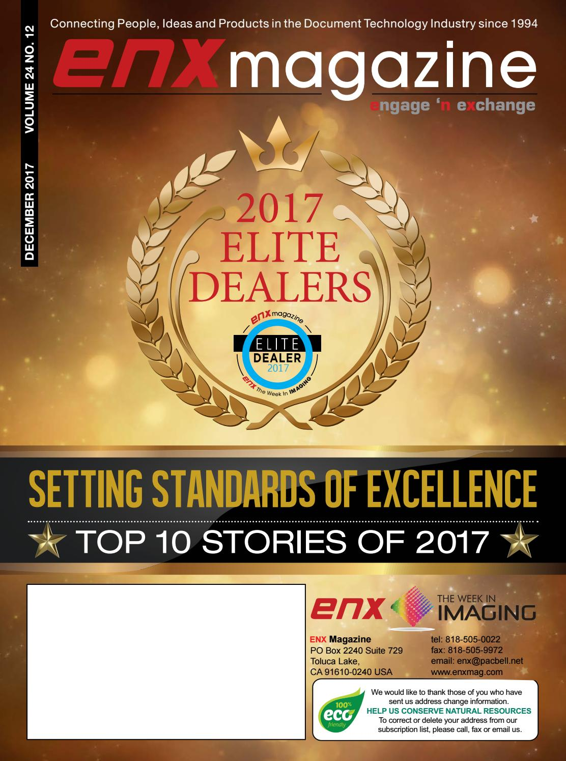 ENX December 2017 Elite Dealer Issue by ENX Magazine - issuu