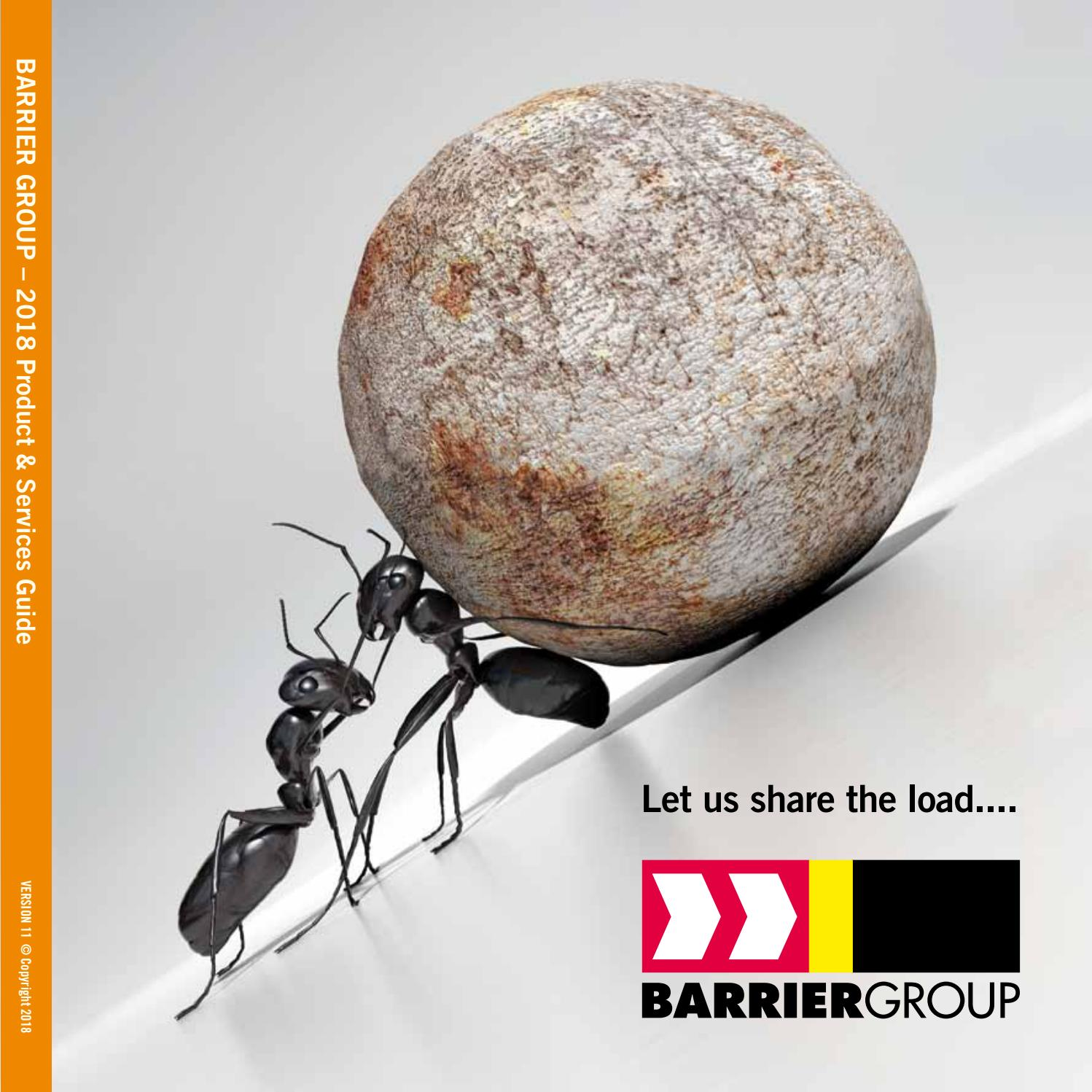 Barrier group 2018 Product & Services Guide by Barrier Group Pty Ltd