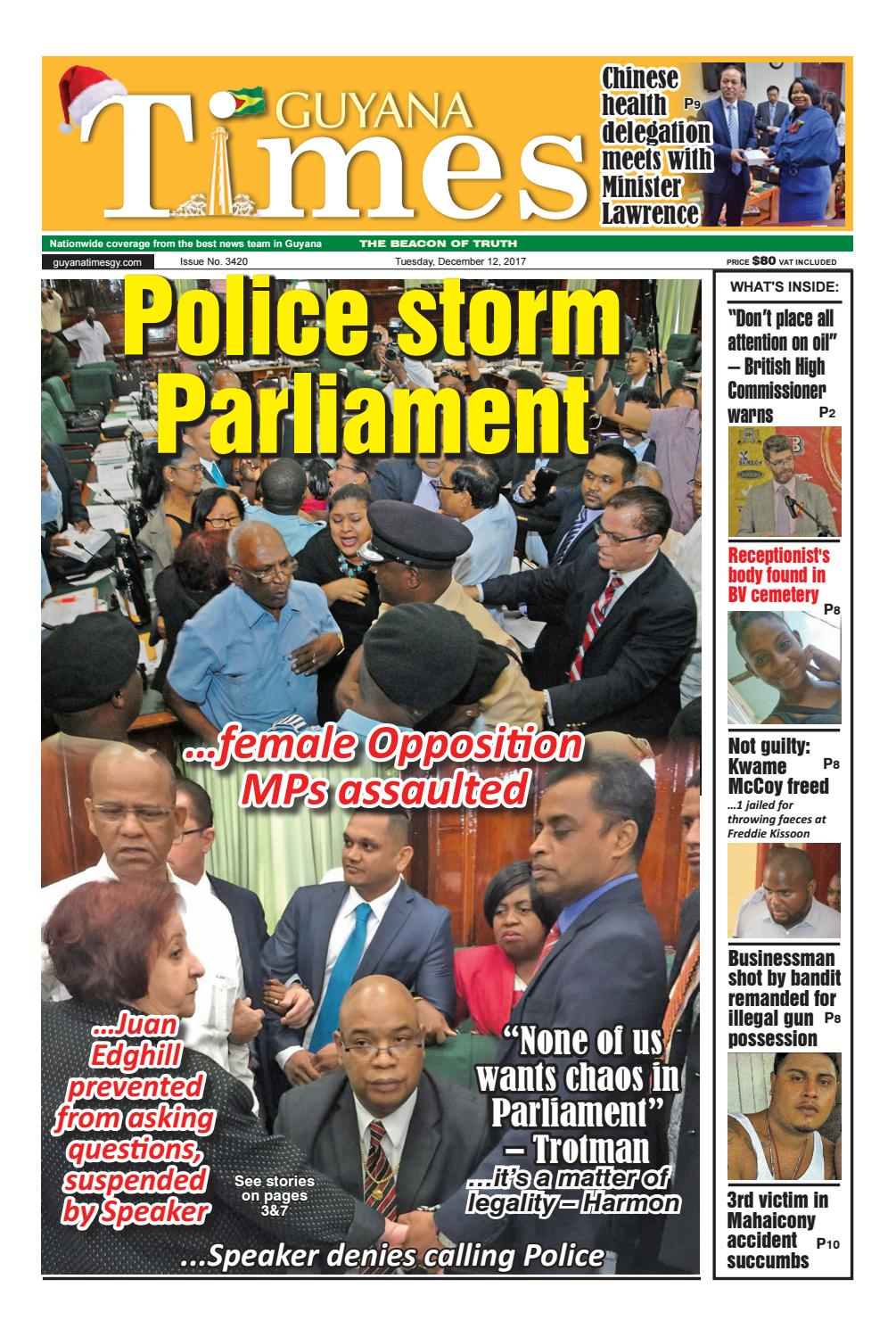 Guyana times daily december 12, 2017 by Gytimes - issuu