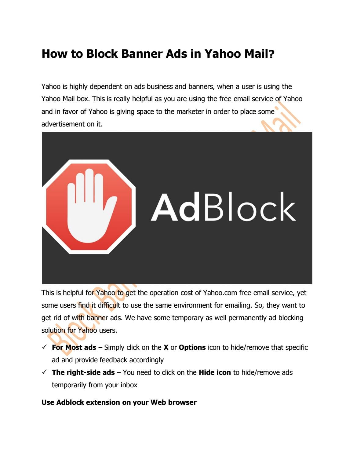 How to block banners 43