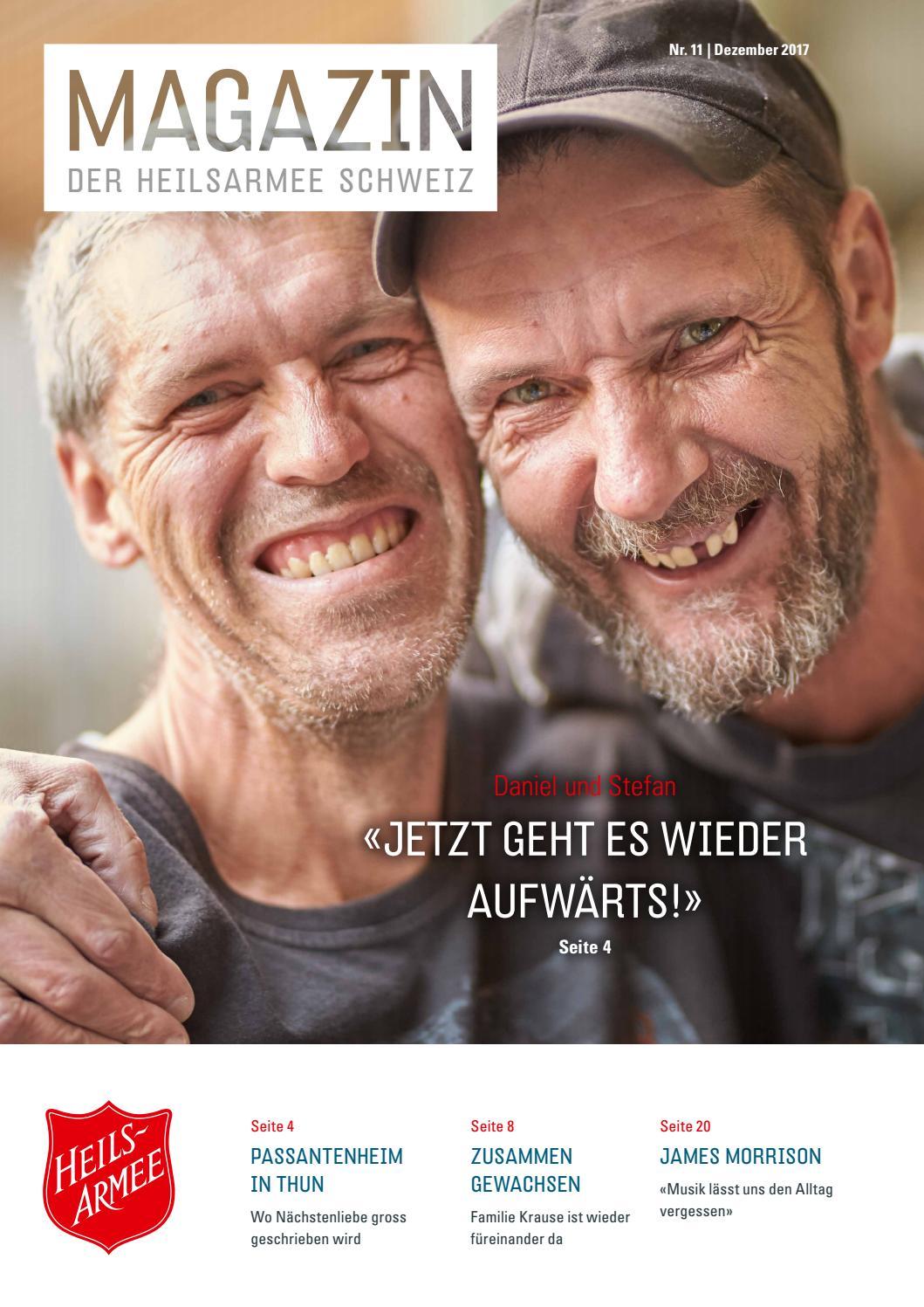 Magazin Nr. 11 / Dezember 2017 by Heilsarmee, Armée du Salut - issuu