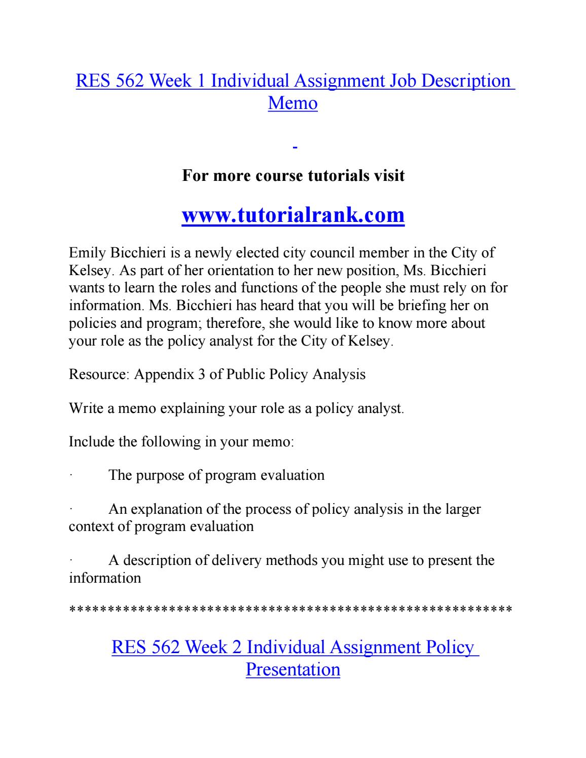 res562 week 3 essay