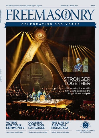 b907d7c7 Freemasonry Today - Winter 2017 - Issue 40 by Freemasonry Today (FMT ...