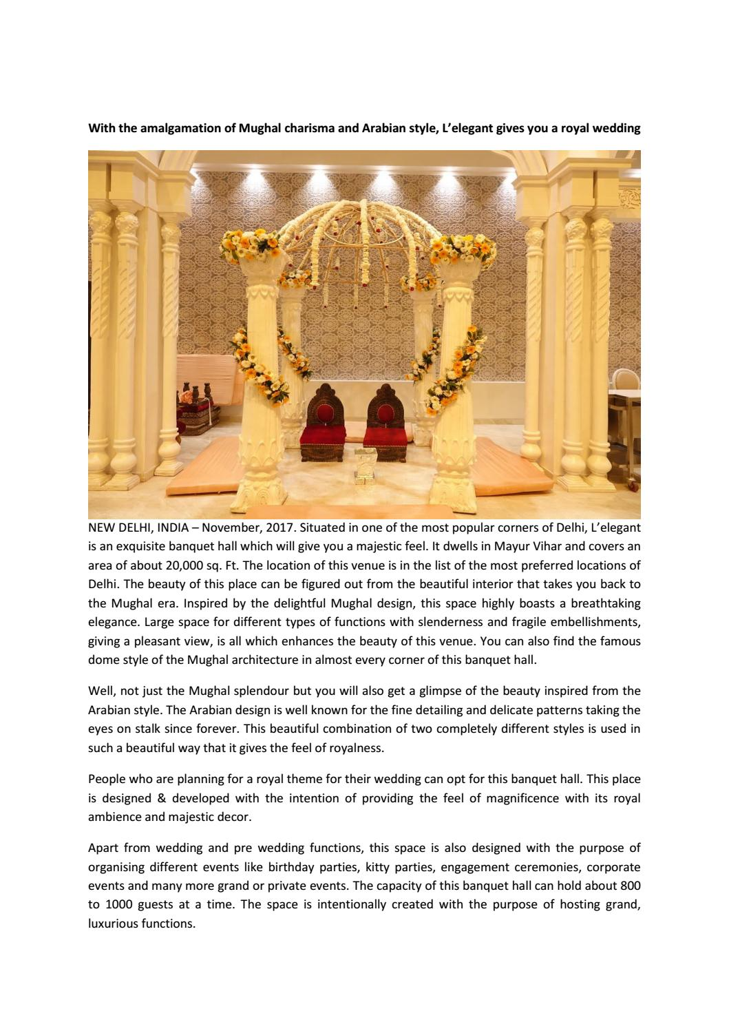 Elegant Banquet Hall Delhi by leelegantdelhi - issuu