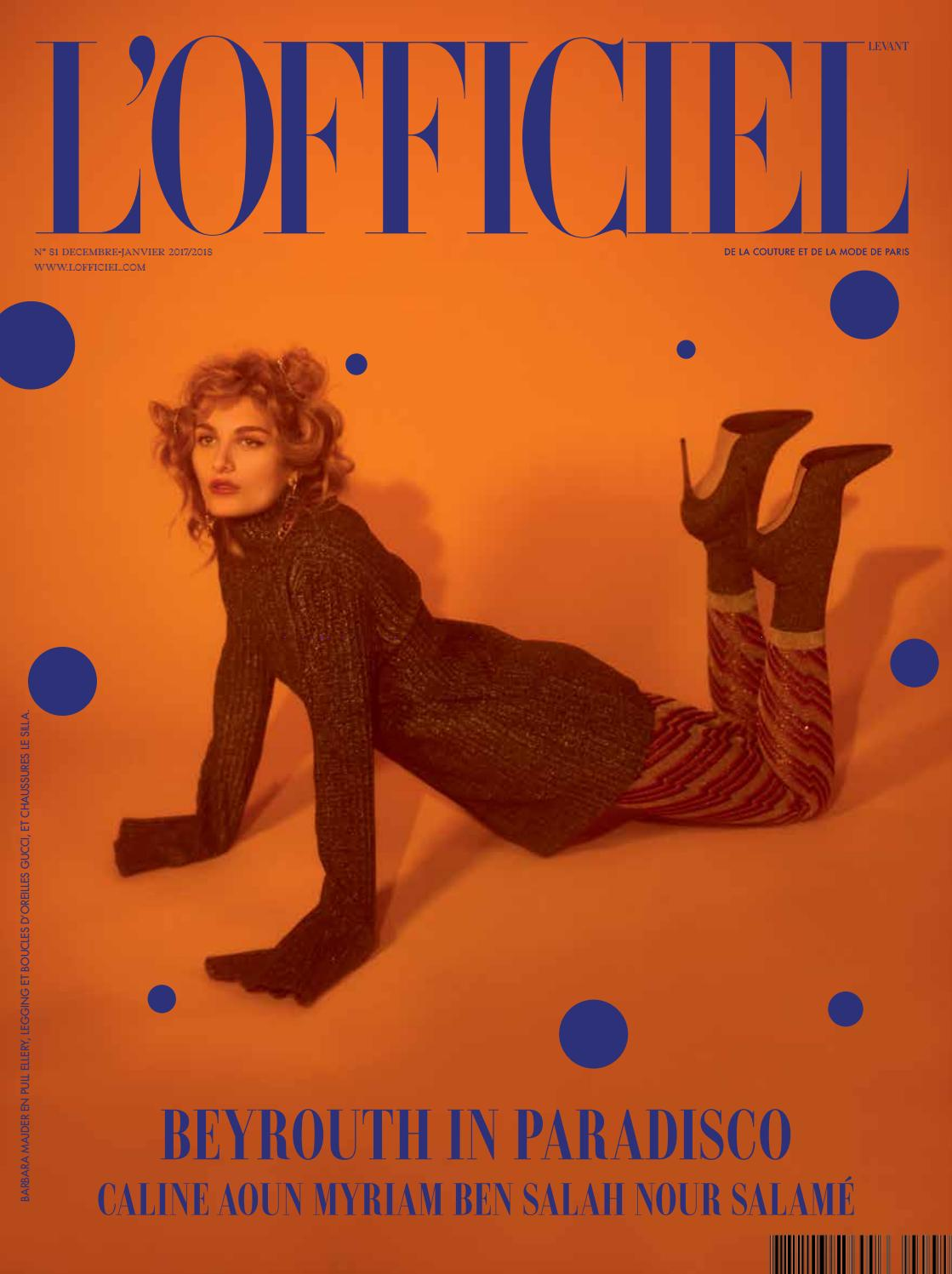L Officiel-Levant, December January Issue 81 by L Officiel Levant - issuu f6338b22c336