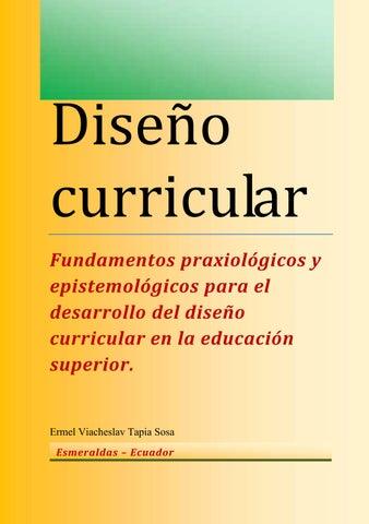 Diseño Curricular Funddamentos Praxiológicos Y