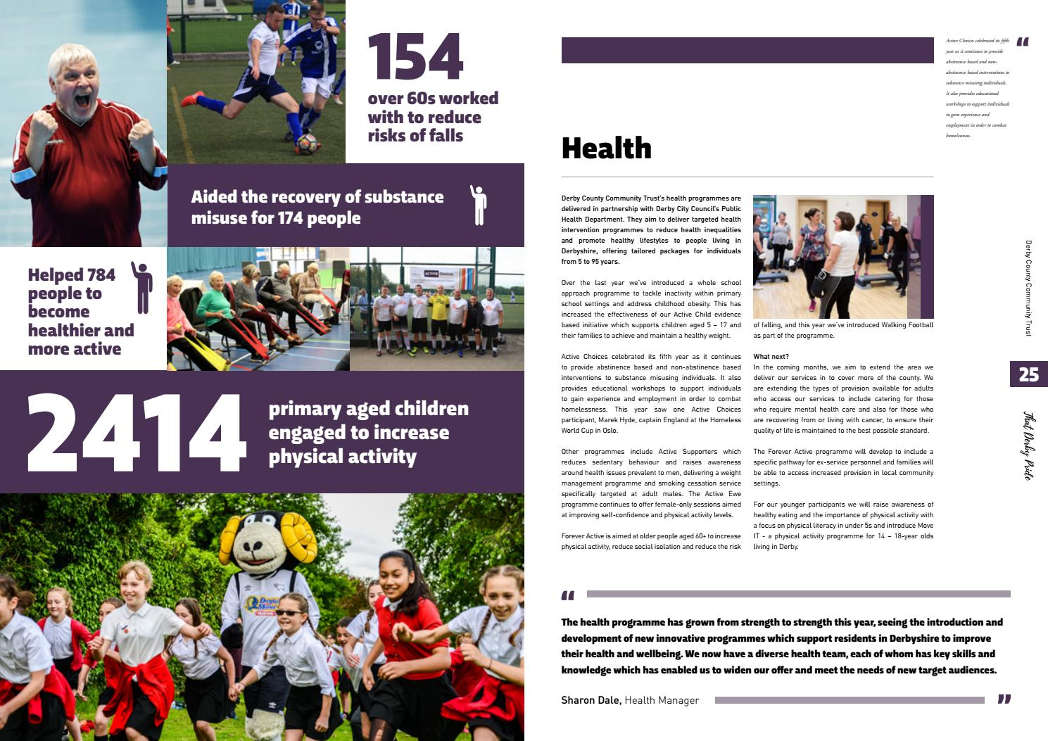 Derby County Community Trust Annual Report 2017 By Derby County Community Trust Issuu