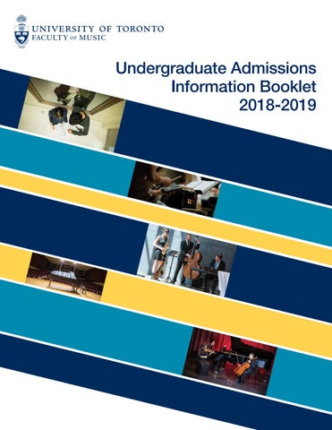 Admissions Booklet 2018 19 By Uoftmusic Issuu
