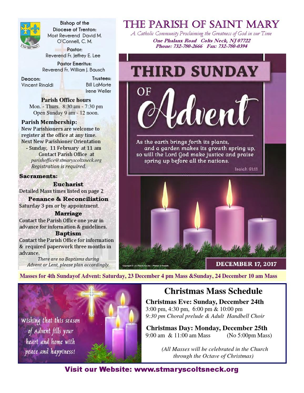 December 17 2017 bulletin by The Parish of Saint Mary - issuu