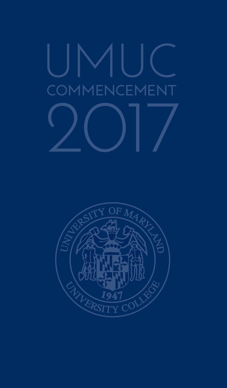 UMUC Winter Commencement 2017 by University of Maryland University ...