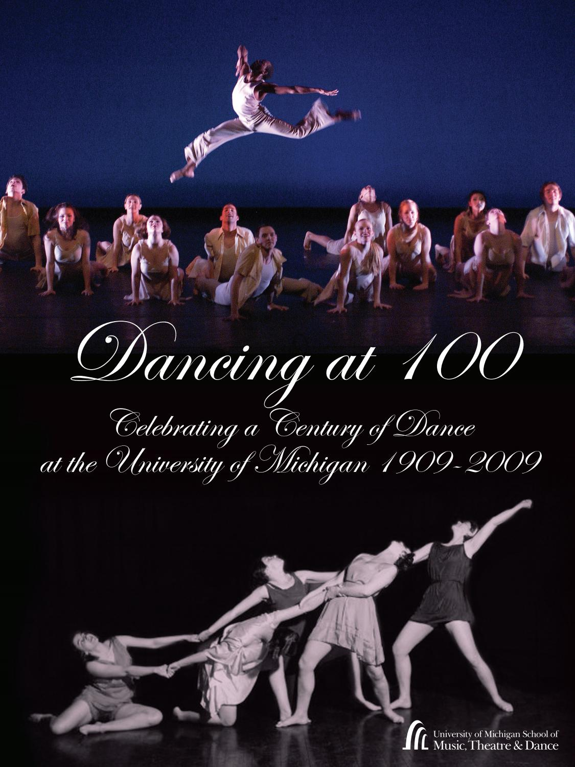 Dance 100 Commemorative Book By University Of Michigan School Tango Step Diagram Multiple Dancers Argentinian Music Theatre Issuu