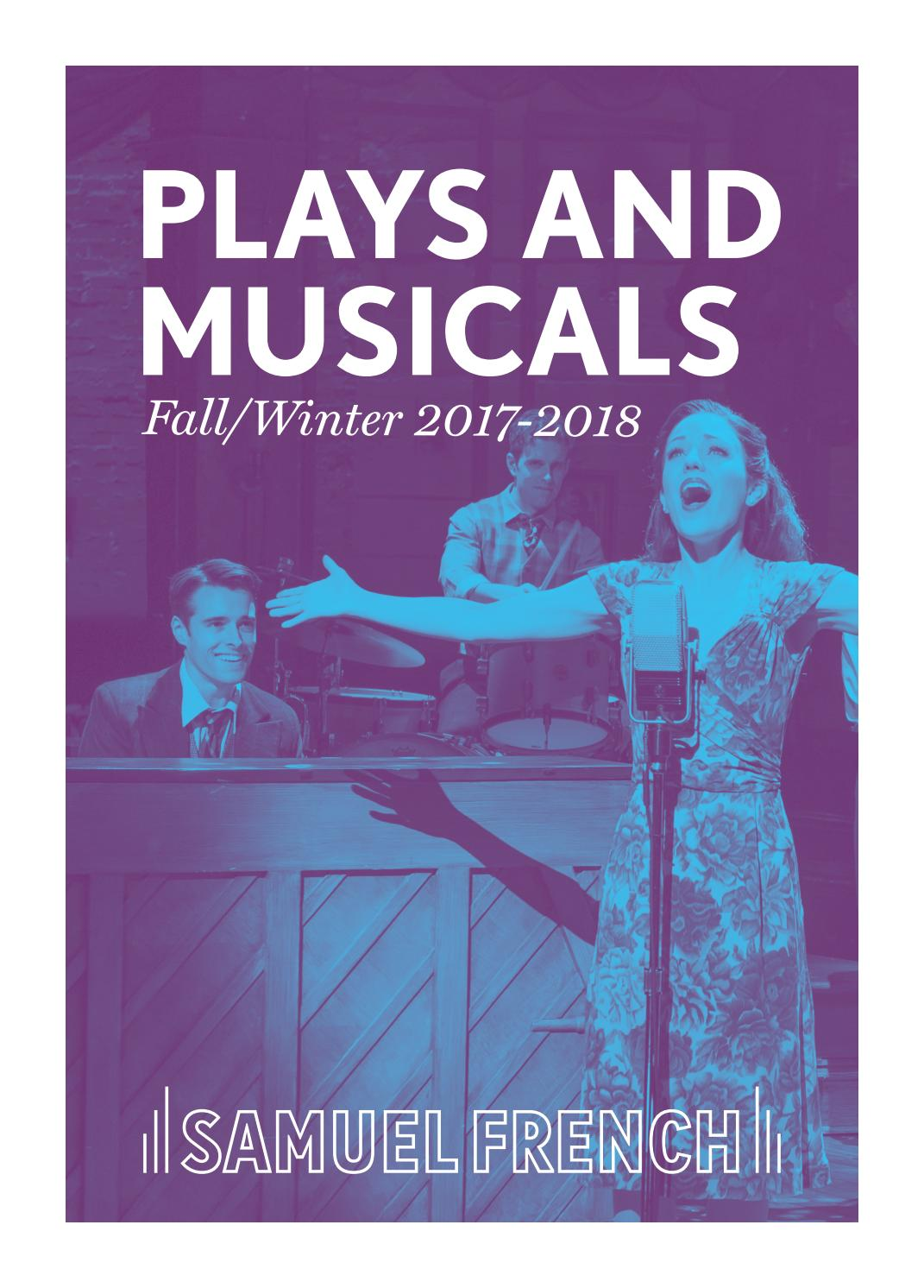 Samuel French Fall/Winter 2017-2018 Journal of Plays and Musicals