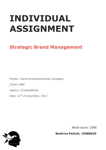 Individual assignment sbm by Beatrice Pedrali - issuu