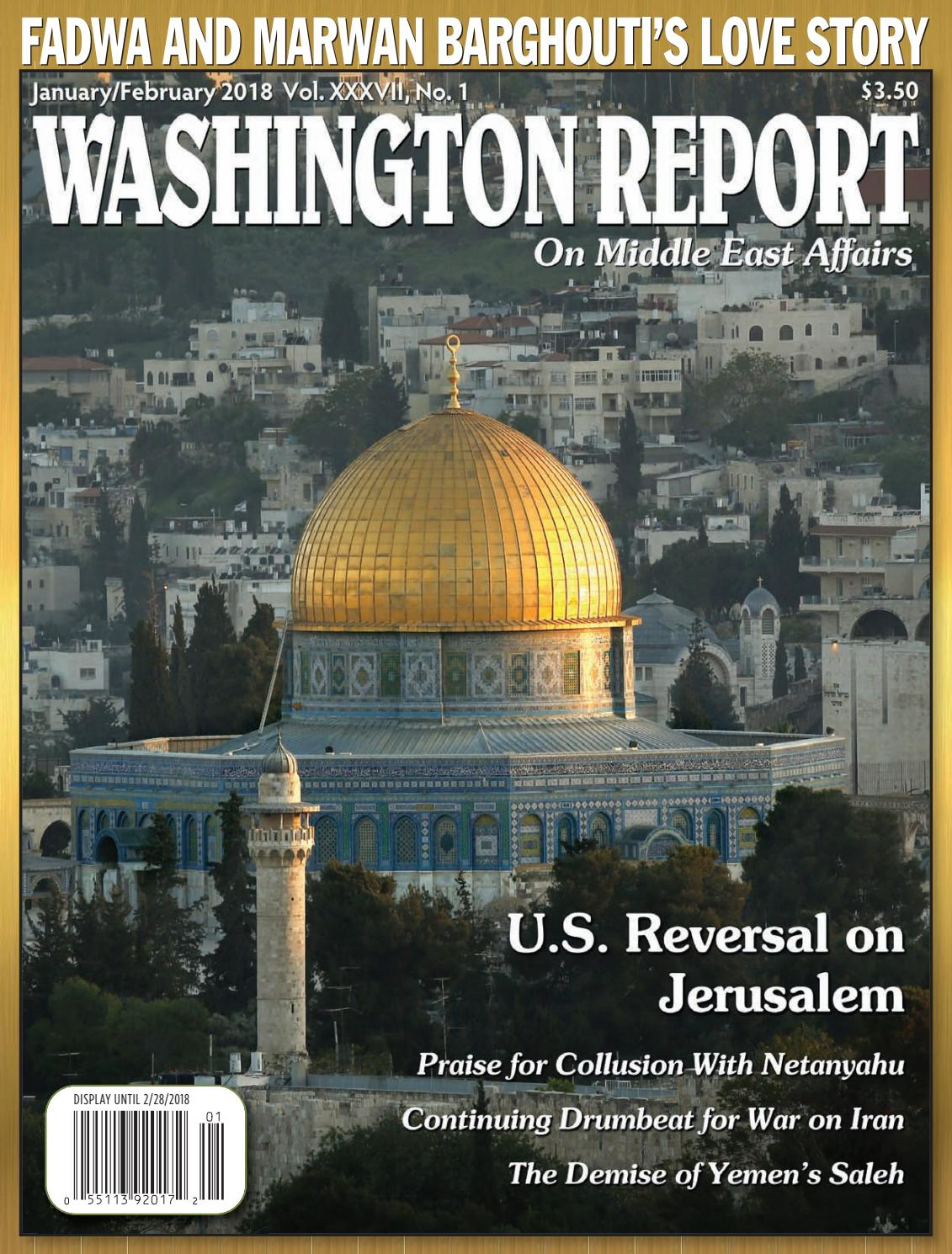 Middle East Map Your Child Learns%0A Washington Report  January February       Vol  XXXVII  No