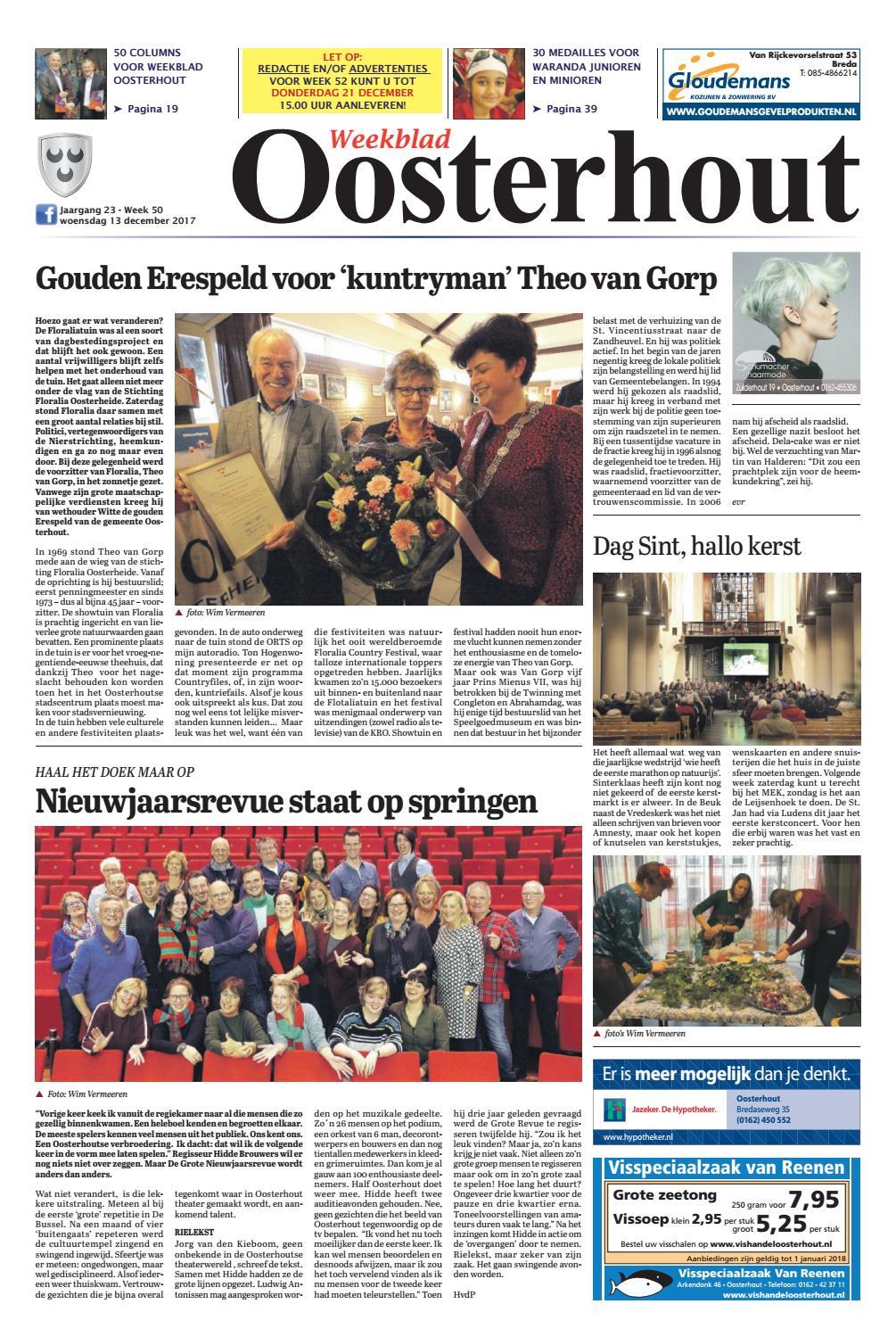 Weekblad Oosterhout 13-12-2017 by Uitgeverij Em de Jong ...