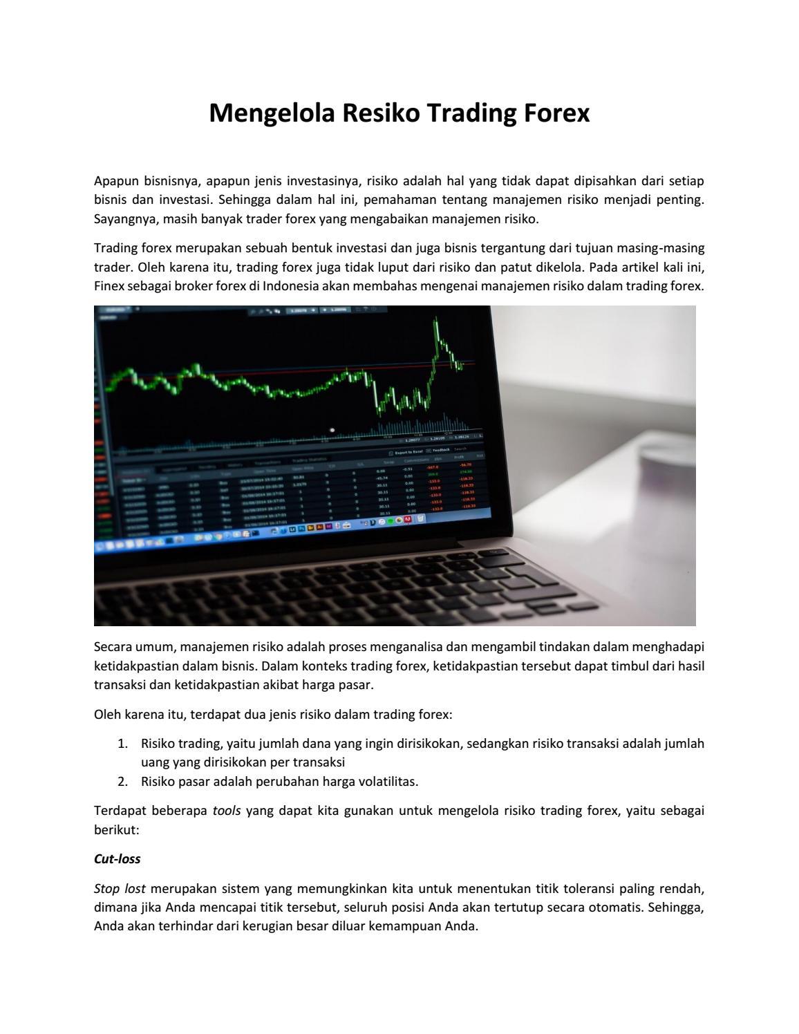 Proses Manajemen Risiko Dalam Forex