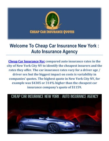 Cheap car insurance in new york 10