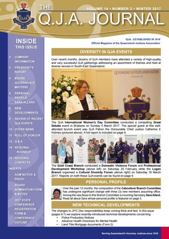 Vol 14 no 2 winter 17 by queensland justices association issuu page 1 solutioingenieria Choice Image