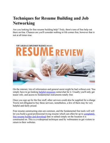 resume builder by resume builder issuu