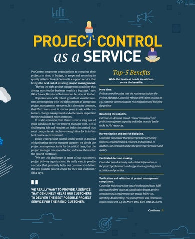 Page 5 of Project Control as a service