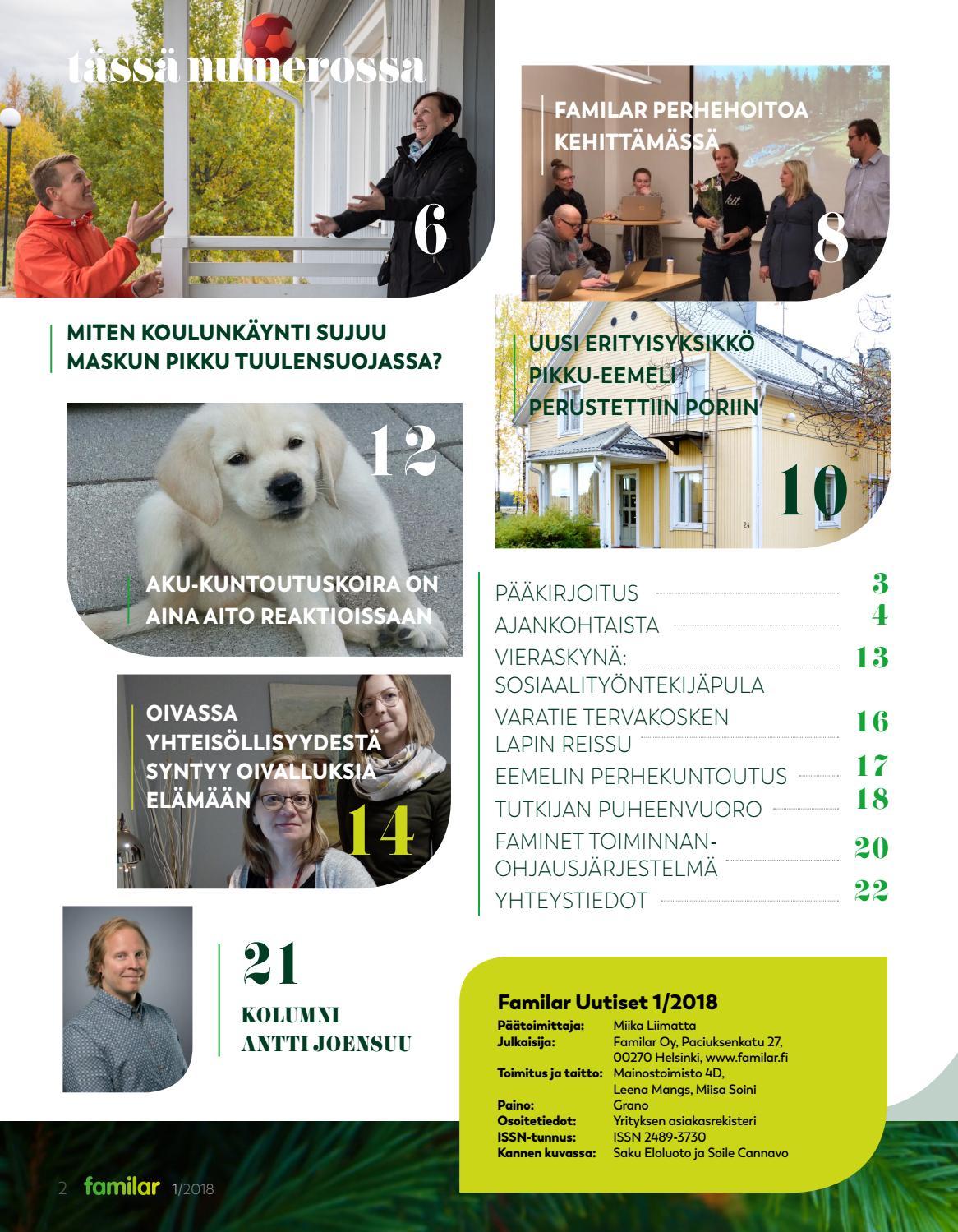 Familar Uutiset 1 2018 By Mainostoimisto 4D