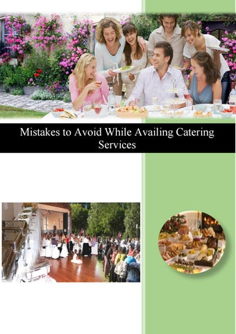 Mistakes To Avoid While Availing Catering Services By Sydney