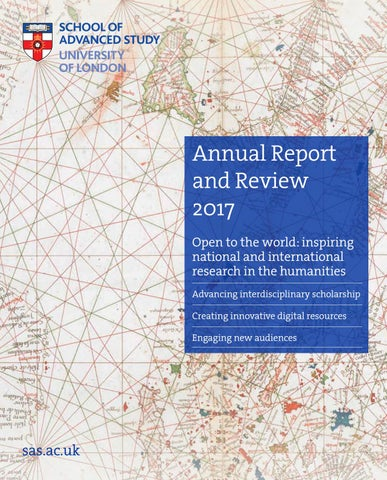 Annual Report and Review 2017 by School of Advanced Study
