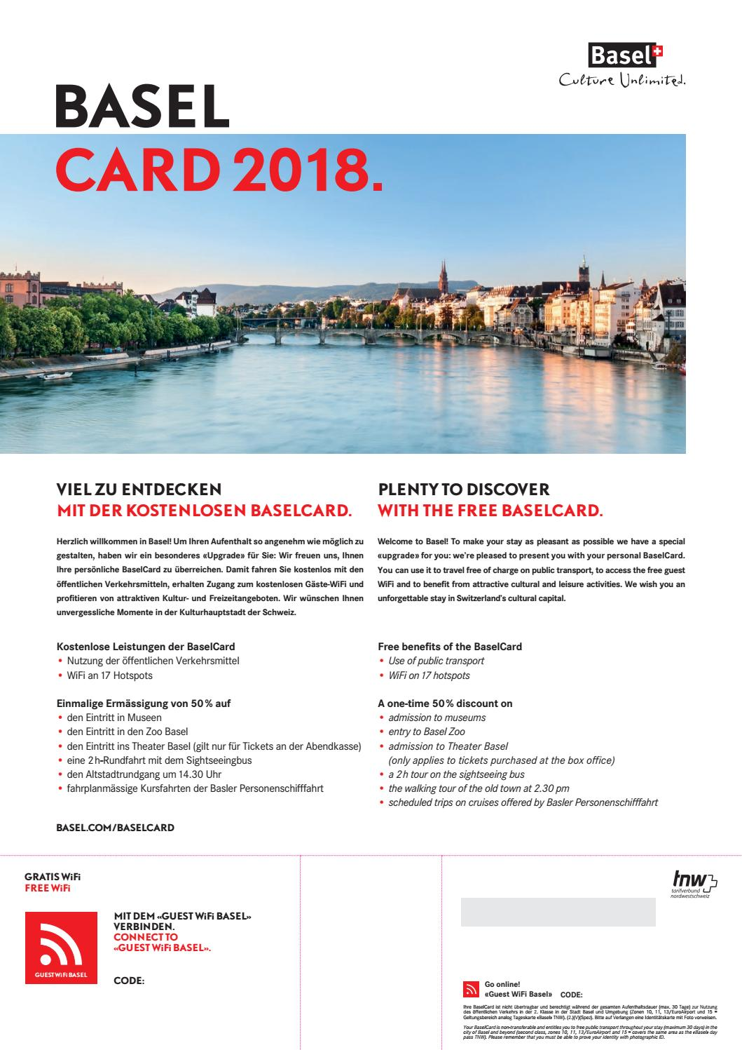 Banner BaselCard 2018 by Basel Tourism - issuu