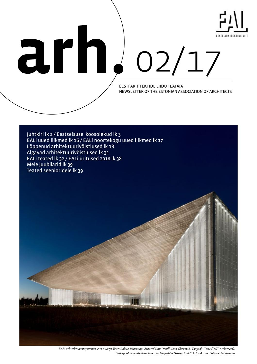 27a3fda7fbb Eesti Arhitektide Liidu Teataja 2/17 by Eesti Arhitektide Liit - issuu