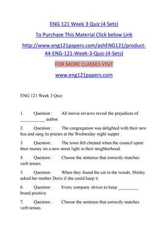 eng 121 week 3 quiz