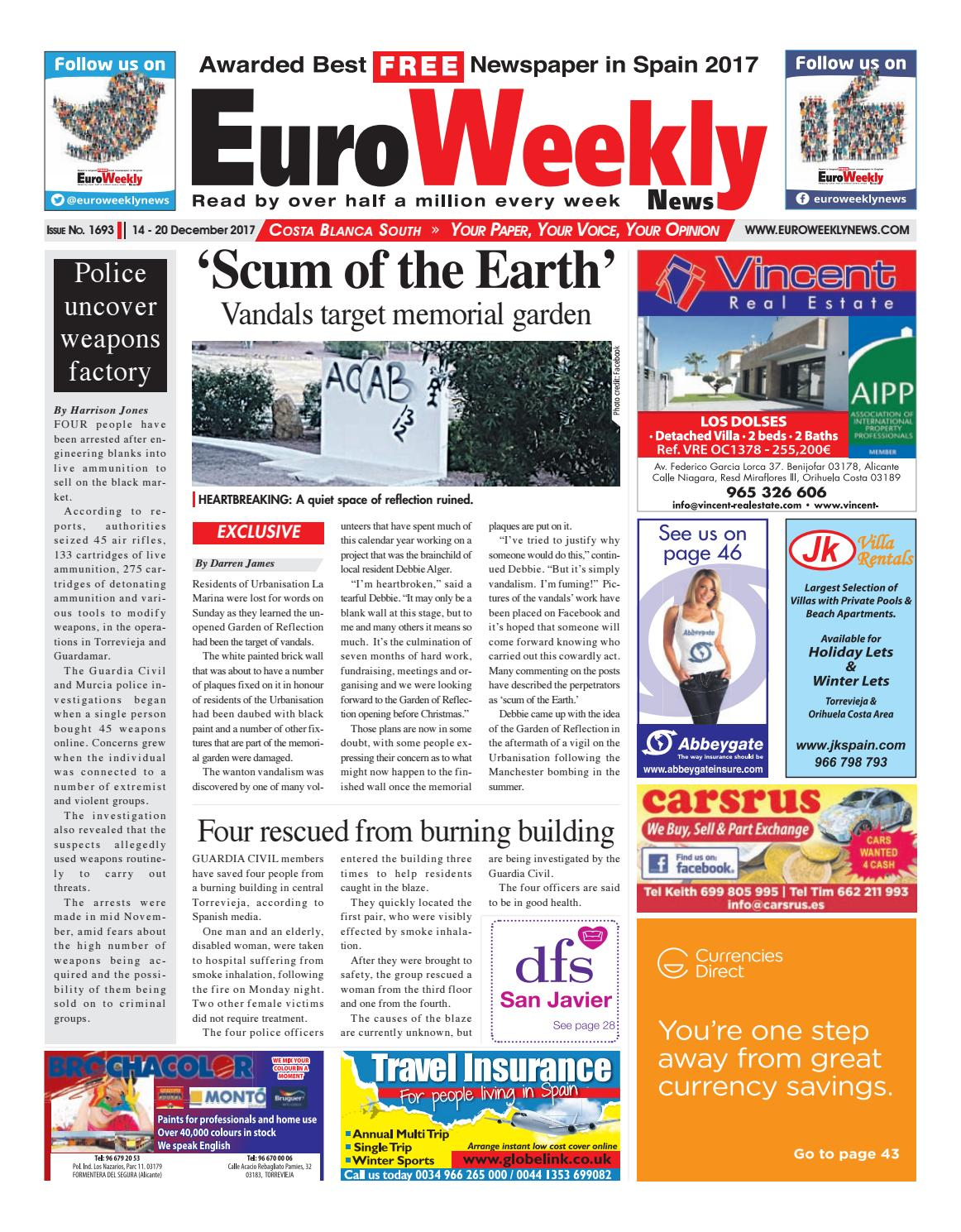 Euro weekly news costa blanca south 14 20 december 2017 issue euro weekly news costa blanca south 14 20 december 2017 issue 1693 by euro weekly news media sa issuu fandeluxe Image collections