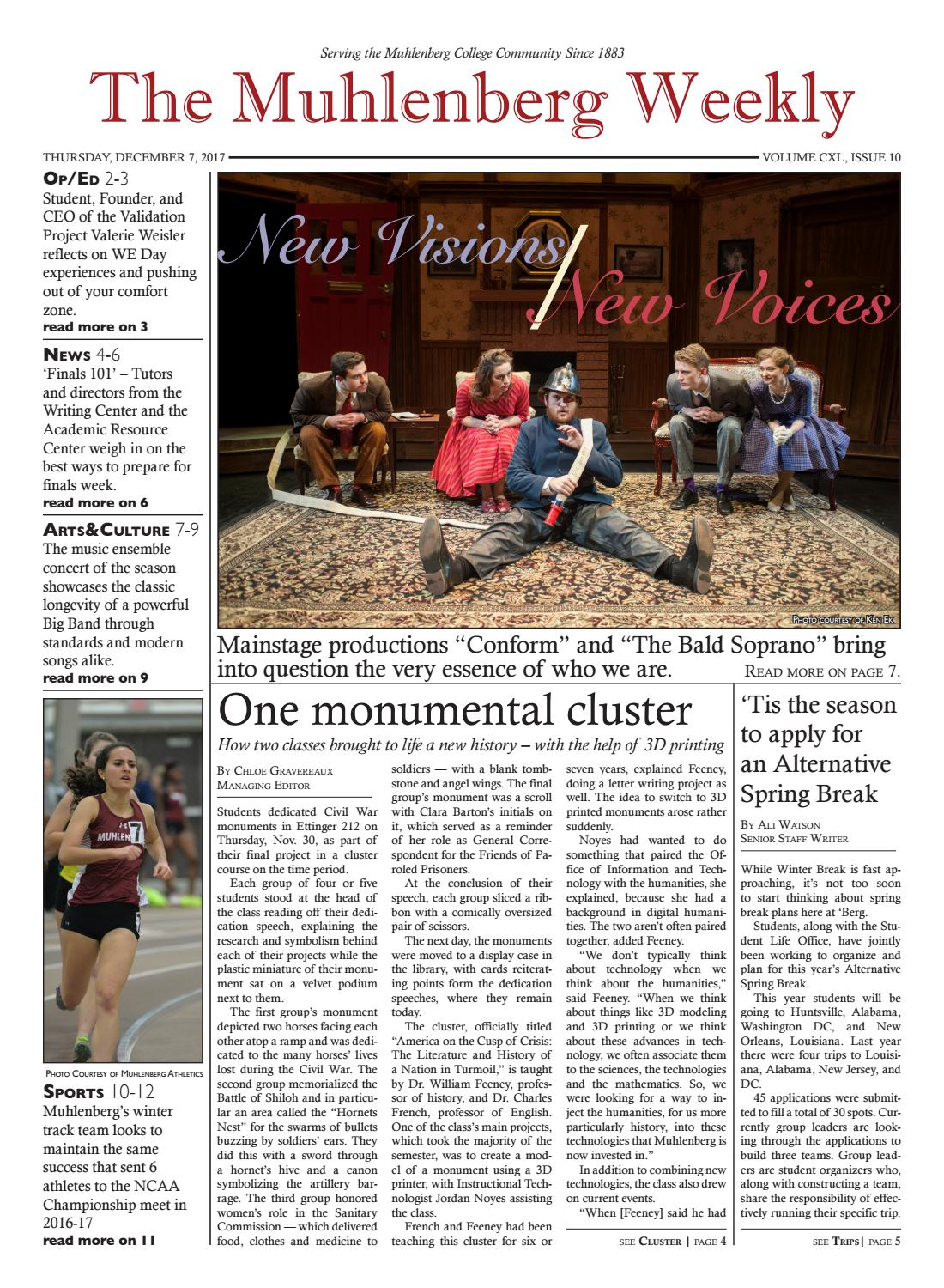The Muhlenberg Weekly December 16th 2017 By The Muhlenberg Weekly Issuu