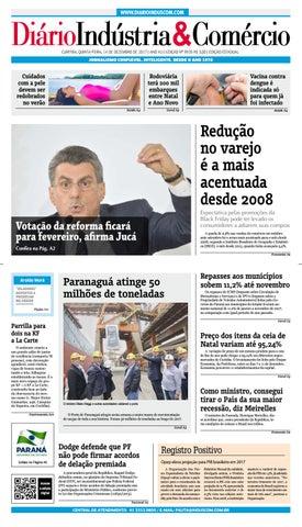 Diário Indústria Comércio - 14 de dezembro de 2017 by Diário ... 700511d5e0c43