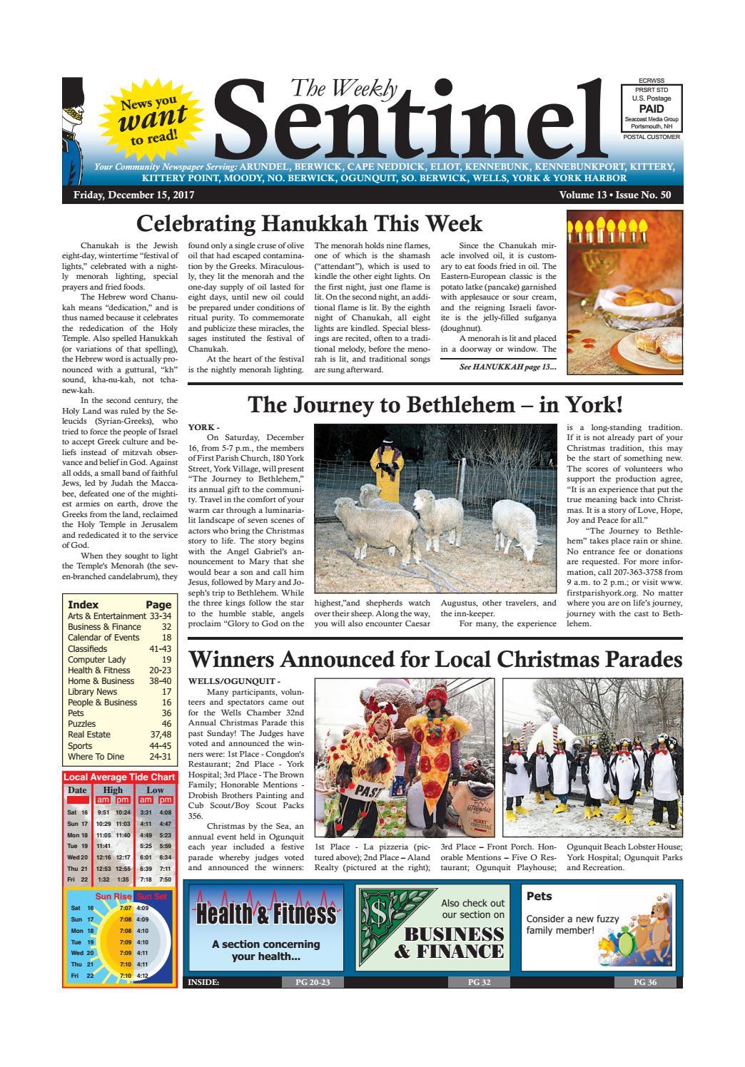 WS Dec  15, 2017 by Weekly Sentinel - issuu