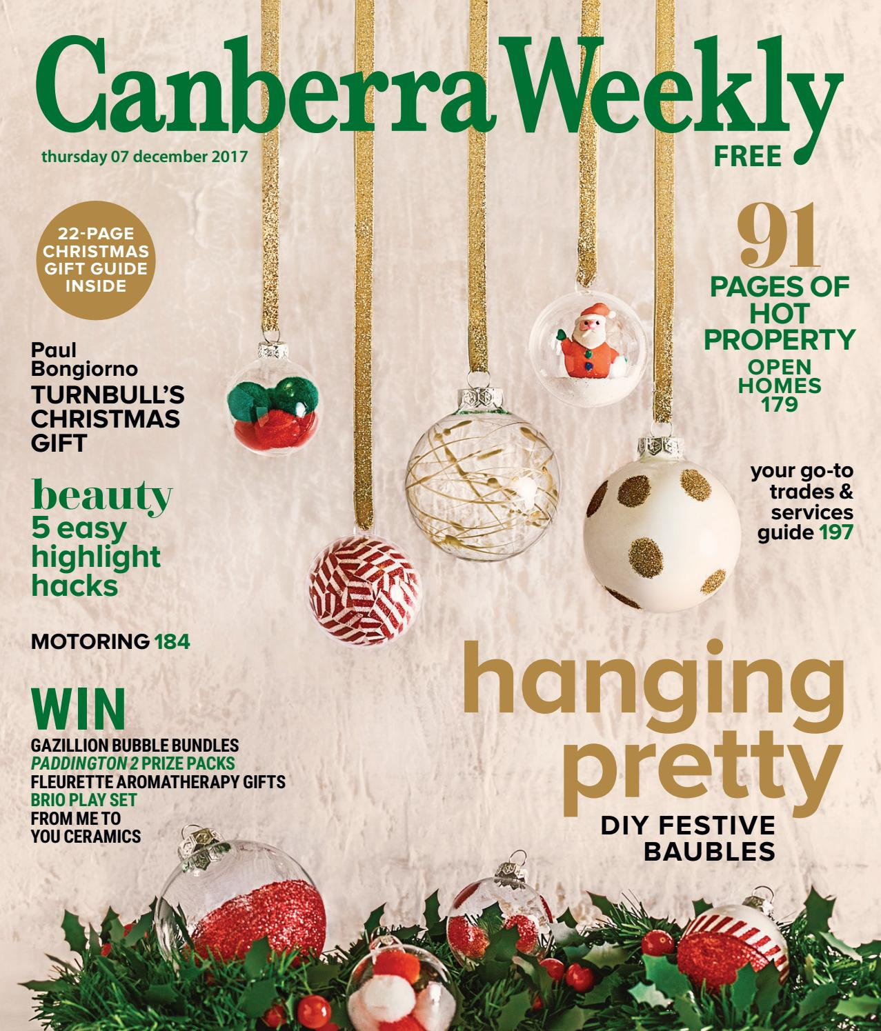 77ce6ed70f5 07 December 2017 by Canberra Weekly Magazine - issuu