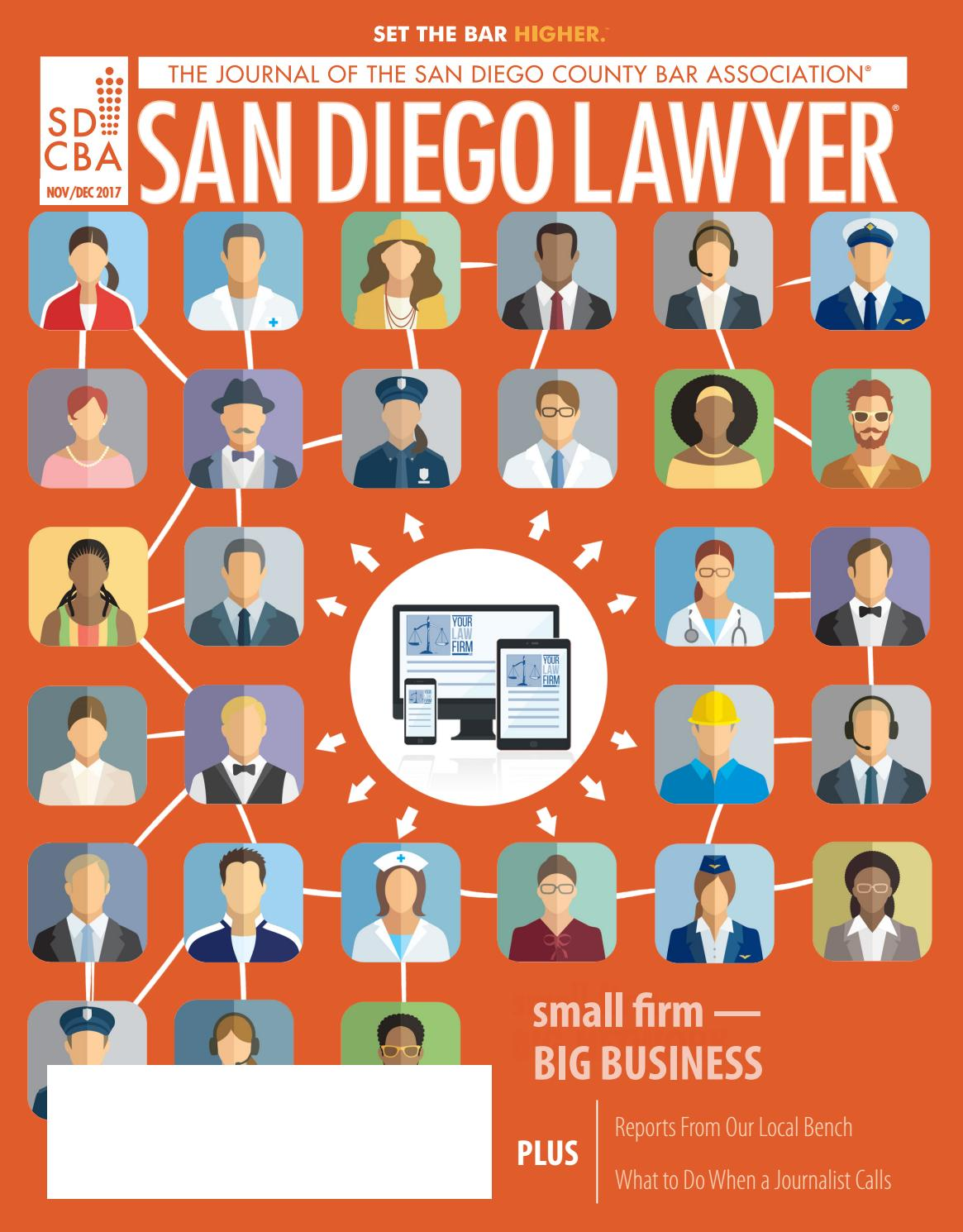 San Diego Lawyer November/December 2017 by San Diego County Bar Association  - issuu