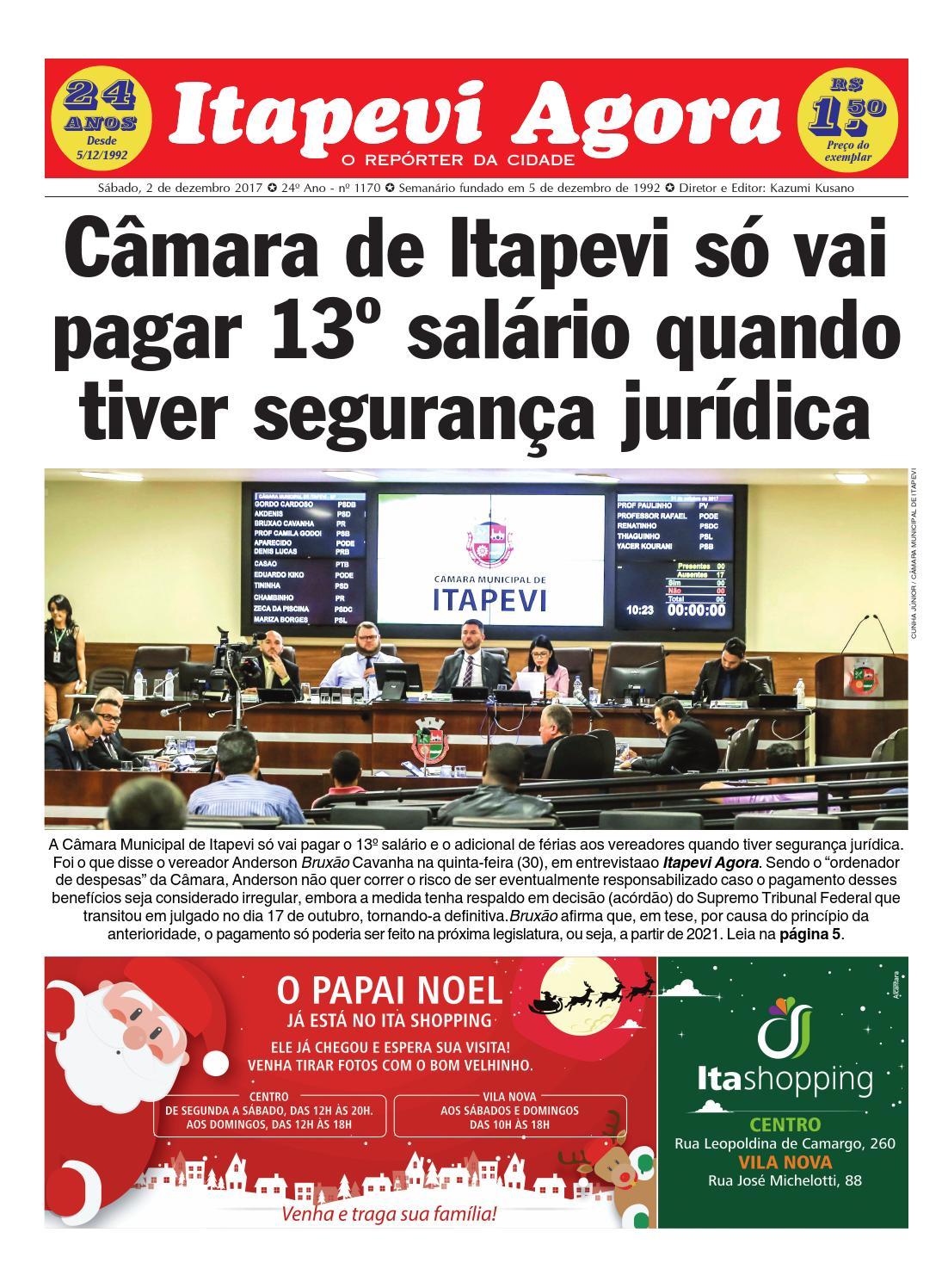 Itapevi Agora nº 1170 - 02.12.2017 by JORNAL ITAPEVI AGORA - issuu b4e3a29fd0