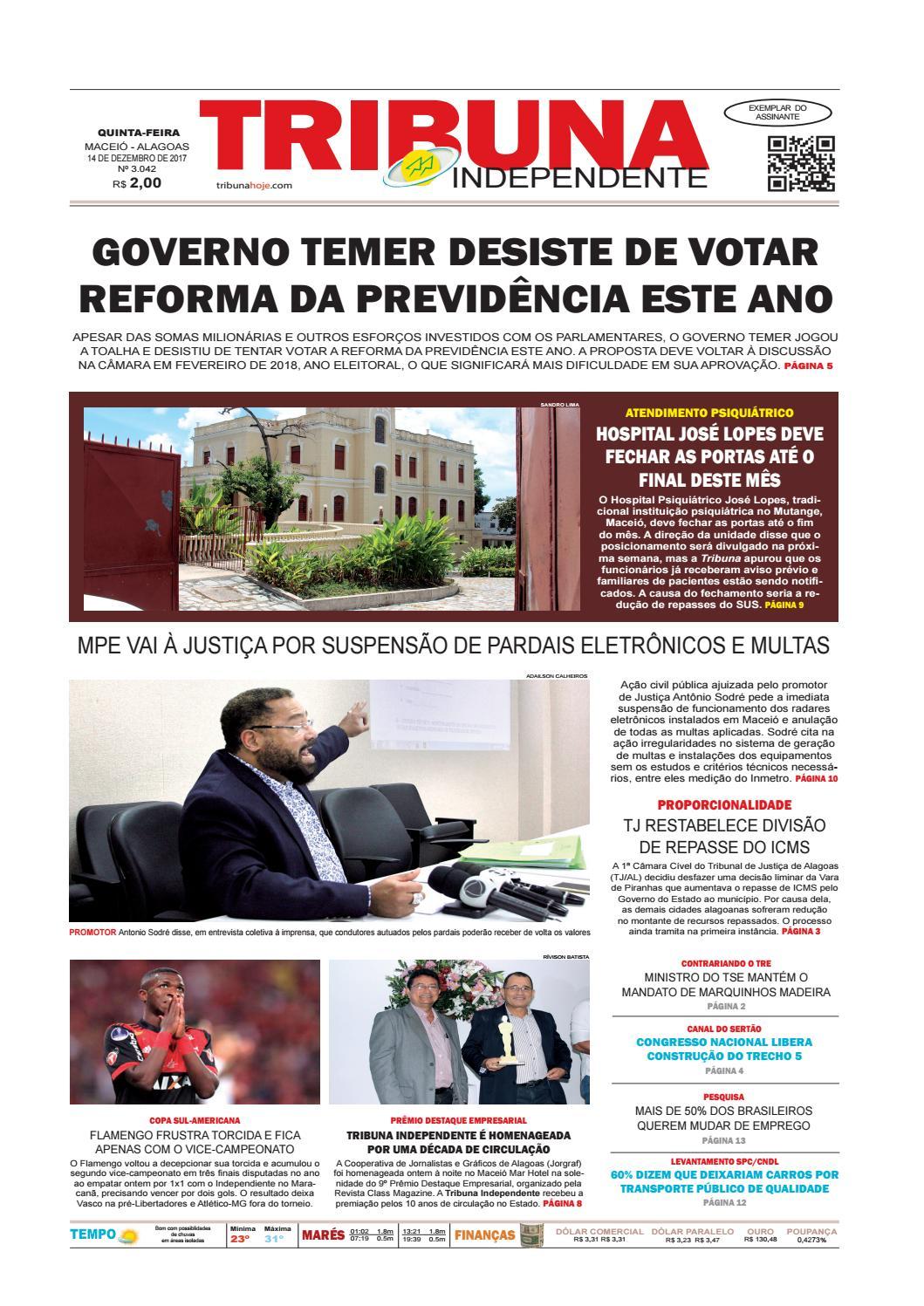 Edição número 3042 - 14 de dezembro de 2017 by Tribuna Hoje - issuu c5cfd8d2515