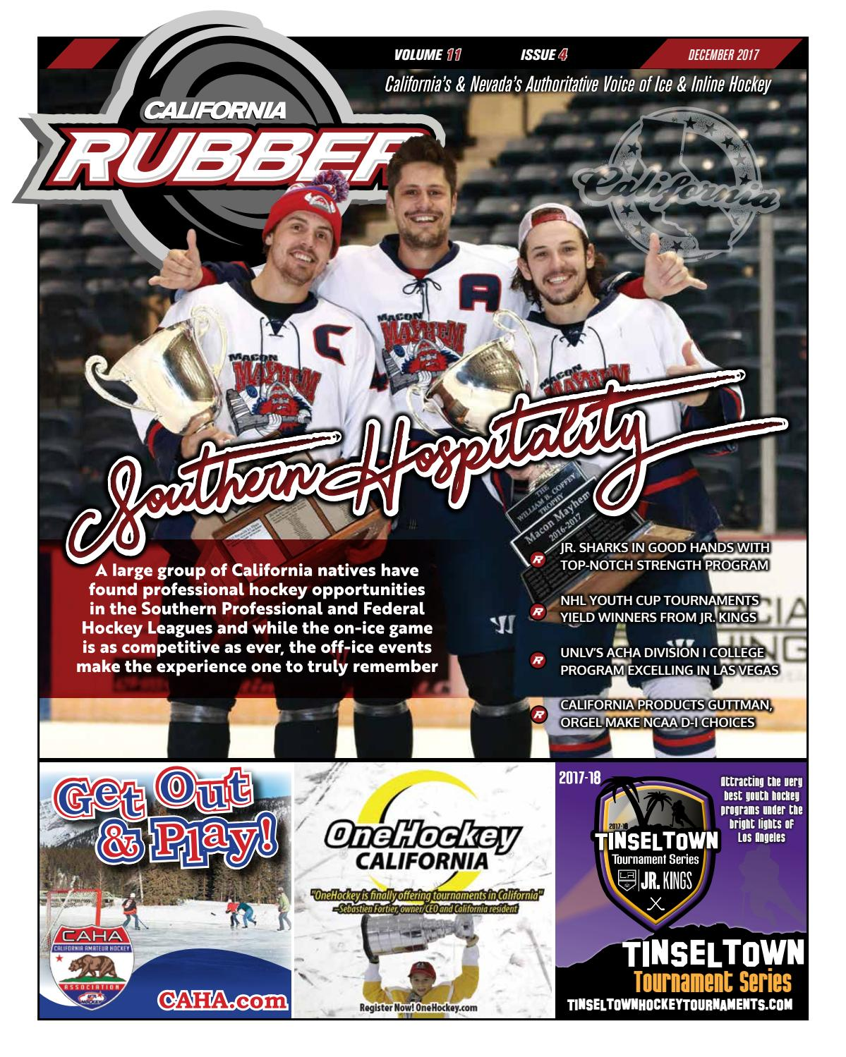 04977376 California Rubber Magazine - December 2017 by Rubber Hockey Magazines -  issuu