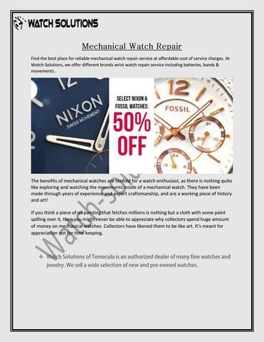 Mechanical Watch Repair by jamesdamon1245 - issuu
