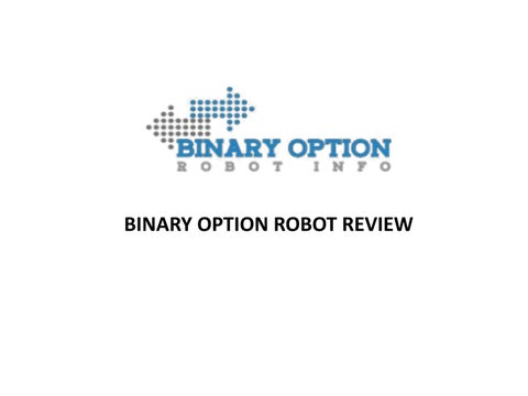 Best binary option robot review india
