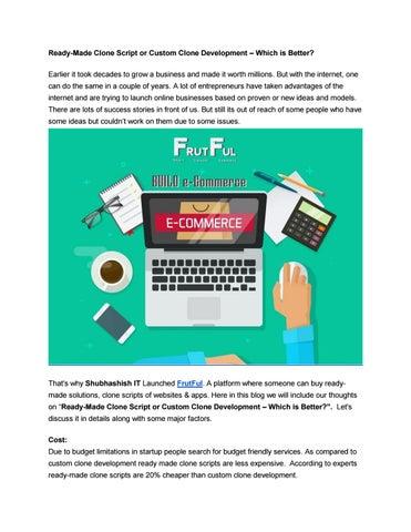 Frutful ready made web & app clone scripts by Frut Ful - issuu