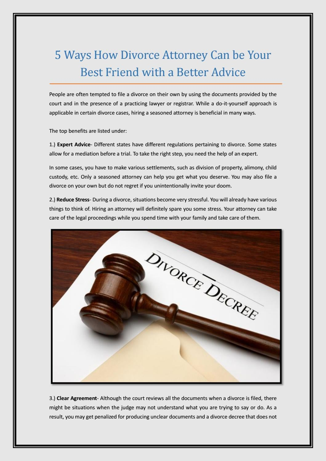 5 ways how divorce attorney can be your best friend with a better 5 ways how divorce attorney can be your best friend with a better advice by elishahjahanian issuu solutioingenieria Image collections