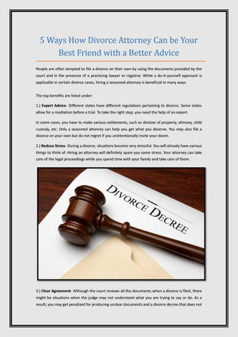 5 ways how divorce attorney can be your best friend with a better 5 ways how divorce attorney can be your best friend with a better advice people are often tempted to file a divorce on their own by using the documents solutioingenieria Images