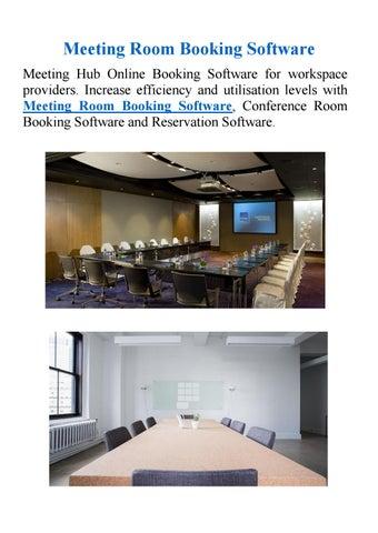 Meeting room booking software by Meeting Hub - issuu